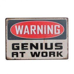 Tabliczka z blachy - Genius