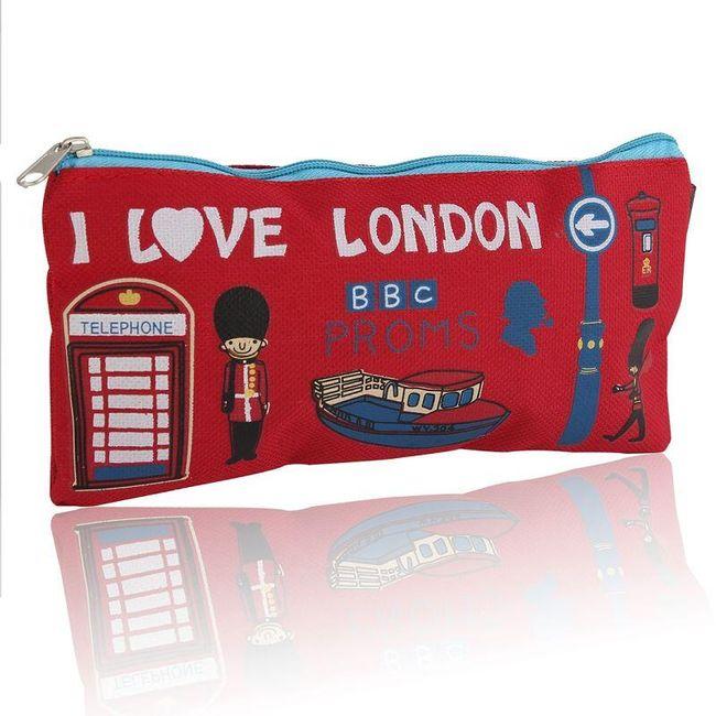 Plátěný penál s londýnskými motivy - 4 barvy 1