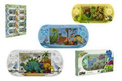 Vodní hra hlavolam dinosaurus plast 18cm asst 4 barvy v krabičce 16ks v boxu RM_00311135