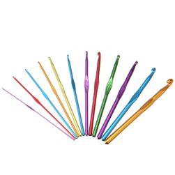 Sada barevných hliníkových háčků (12  kusů) - různé velikosti