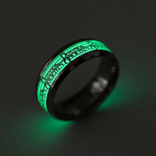 Prsten - svítící ve tmě 1
