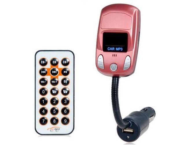 Otočný multifunkční FM transmitter do auta - originální design 1