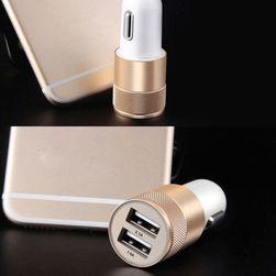 Ładowarka samochodowa na 2 kable USB