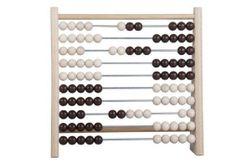 Liczydło100 drewnianych / metalowych kulek 24x23cm w woreczku PD_1129203