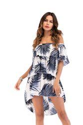 Rochie fără bretele cu imprimeu exotic - 4 variante