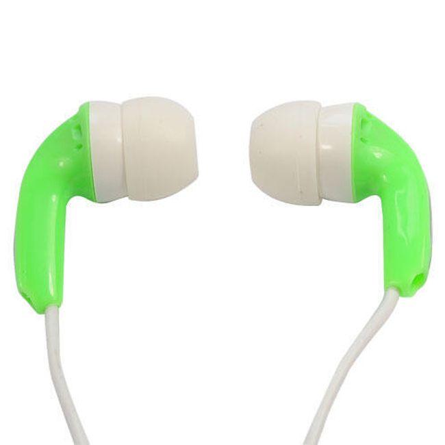Stereo sluchátka 3,5mm - špunty, světle zelené 1