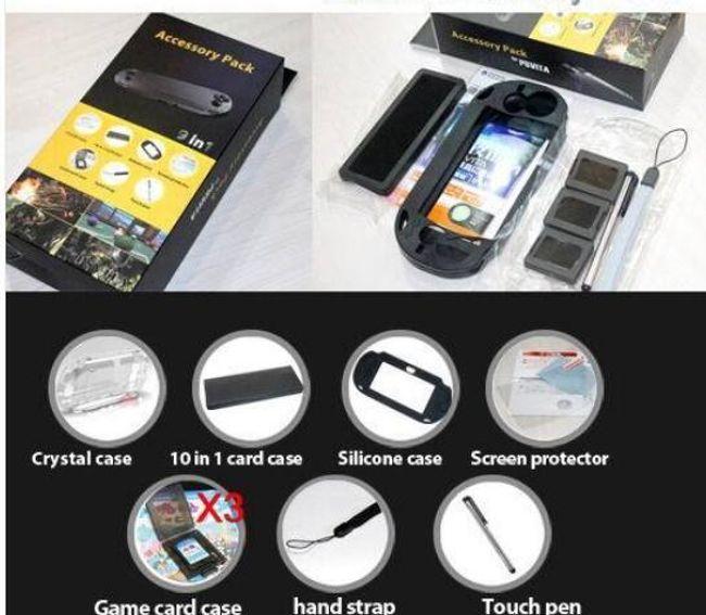 9 v 1 balíček příslušenství k PS Vita 1
