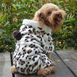 Odeća za pse sa kapuljačom - motiv leopard