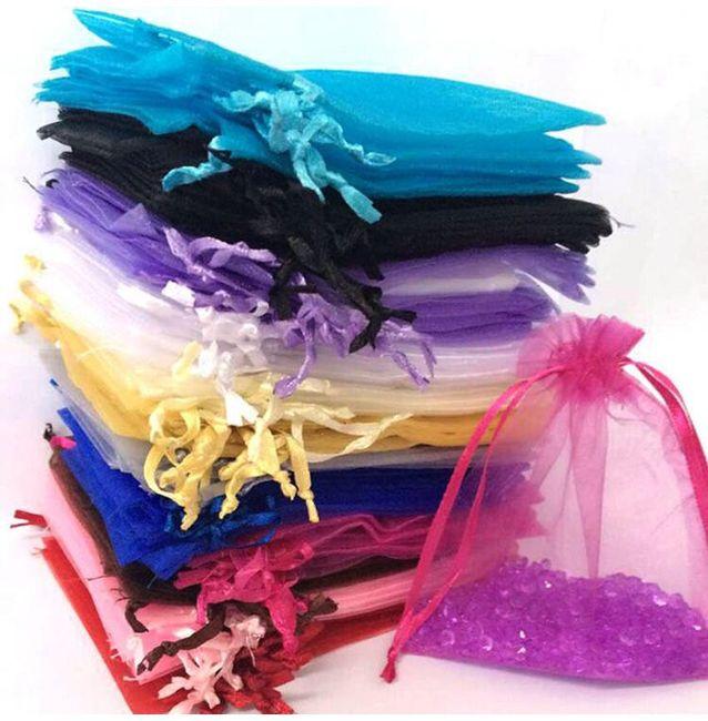 Sada dekorativních sáčků v různých barvách - 100 ks 1