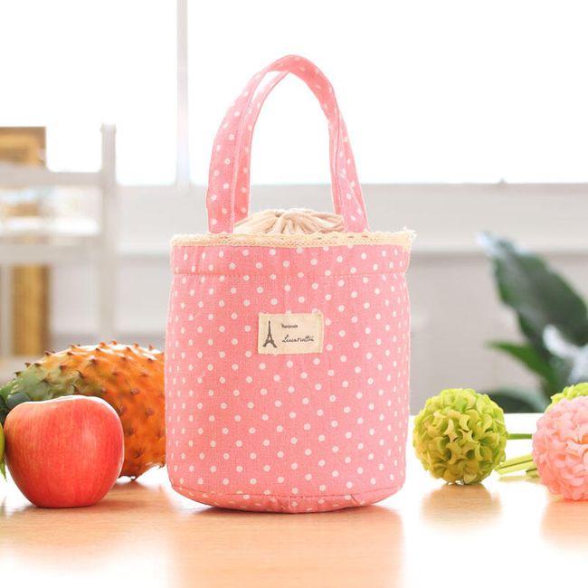 Simpatična termo vrečka za kosilo - roza 1