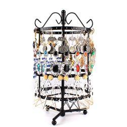 Подставка для ювелирных изделий, черный цвет - 15х15х30 см.