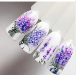 Autocolante impermeabile pentru unghii - lavandă