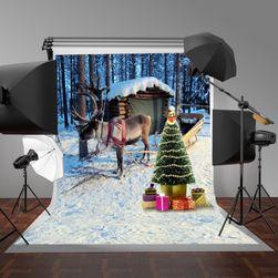 Fotopozadí - vánoční jelen - 2,1 x 1,5 m