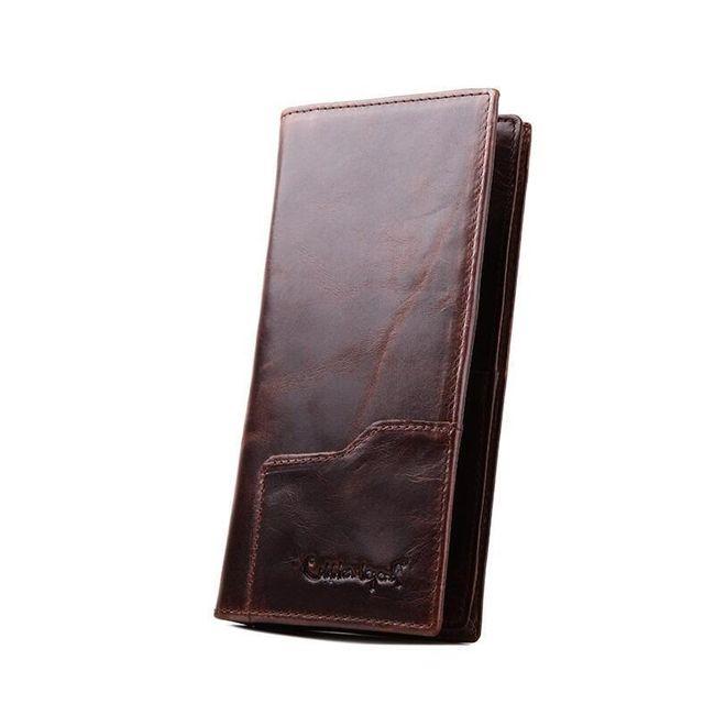 Pánská peněženka v dlouhém provedení z PU kůže 1