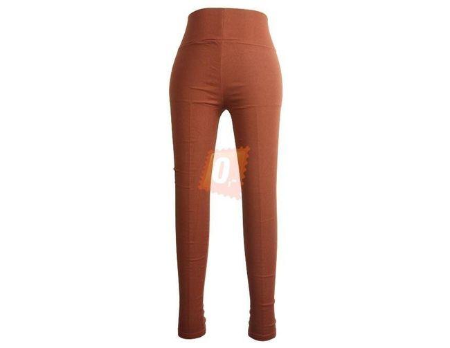 Dámské legíny v oranžové barvě 1