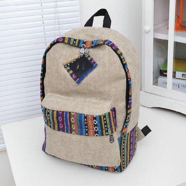Damski plecak w stylu etno 1