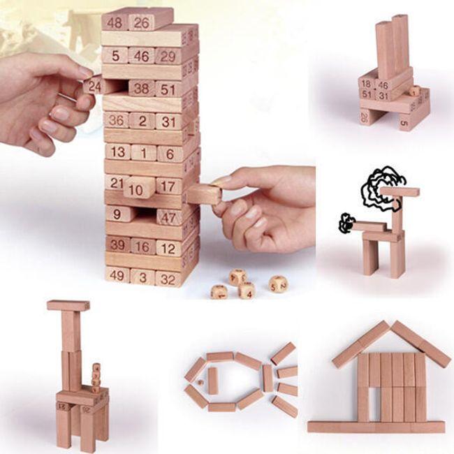 Společenská hra věž - kostky s čísly 1