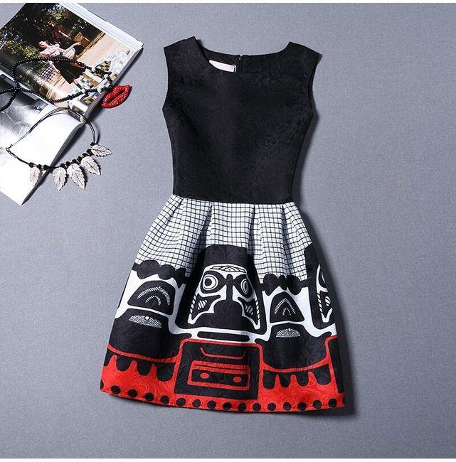 Ujjatlan lány ruha eredeti motívummal - 15 változat