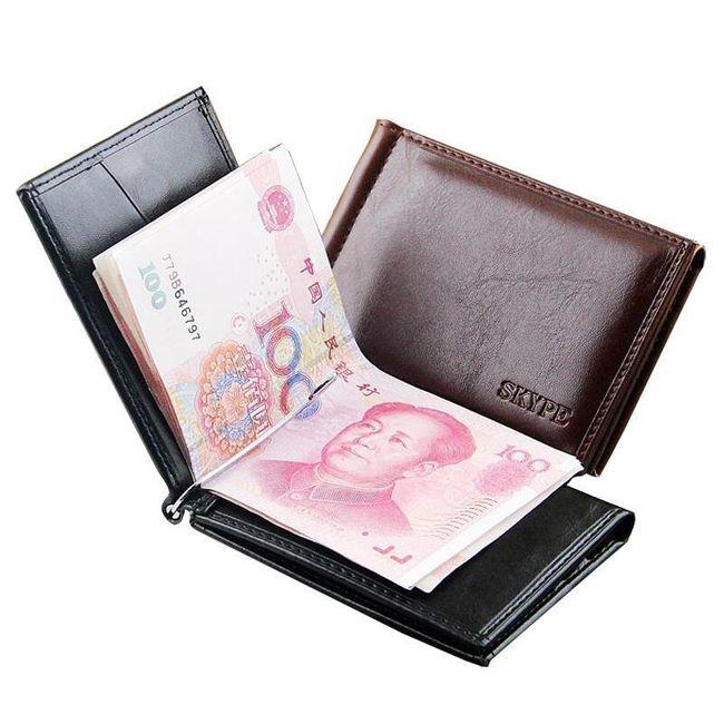 Pánská peněženka s klipem - 2 barvy 1