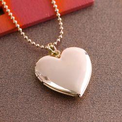 Damski medalion - serce