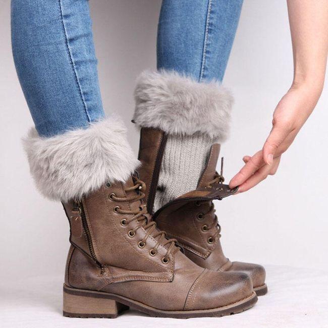 Tople prevleke za noge s krznom - 8 barv 1