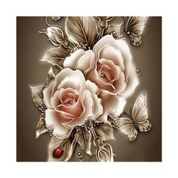 5D slika sa ružama