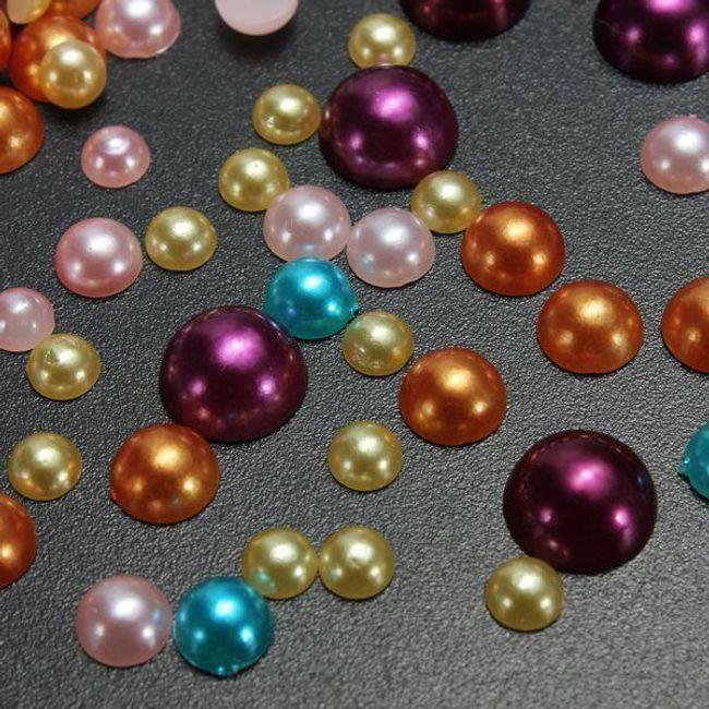 Barvne samolepilne perle  1