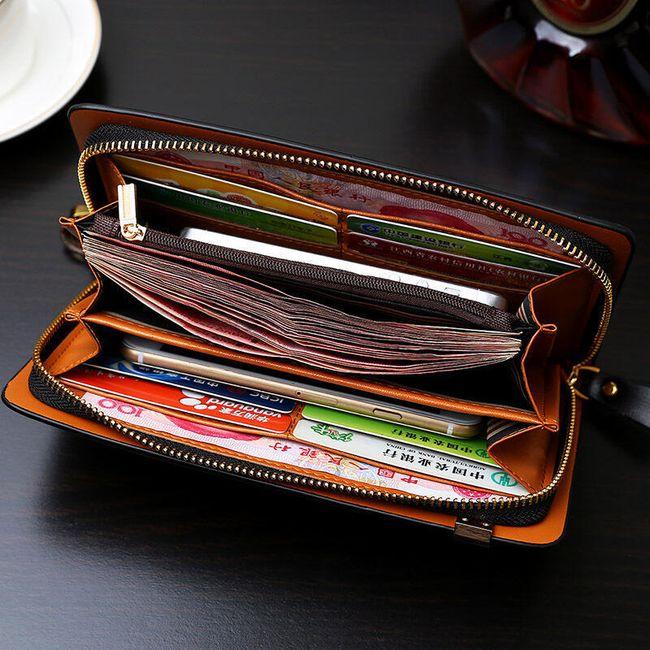 Elegáns formatervezésű férfi pénztárca - több szín