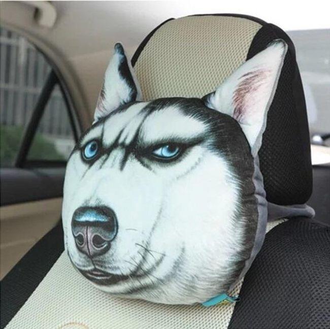 Pernă auto 3D cu câini și pisici 1