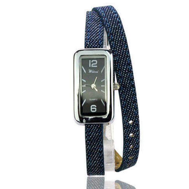 Dámské hodinky s džínsovým páskem 1