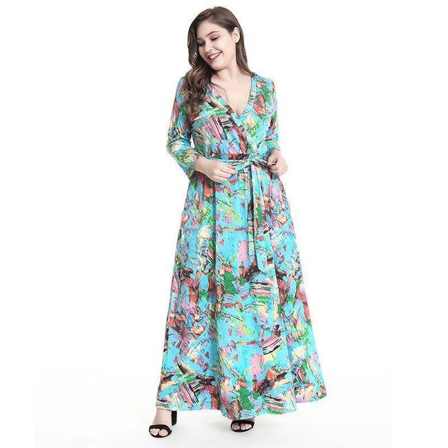 Dámské dlouhé šaty plus size - 2 varianty 1