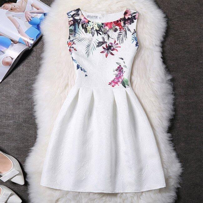 Elegantní šaty s originálními motivy - Varianta 14 - Velikost 1 1