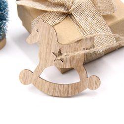 Decoratiuni din lemn pentru Crăciun 20 de bucăți - diferite tipuri