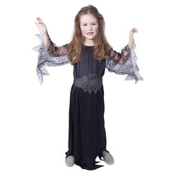 Dětský kostým černá čarodějnice/Halloween (M) RZ_885318