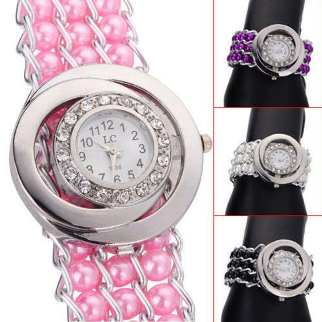 Damski zegarek z paskiem z koralików - do wyboru 4 kolory 1
