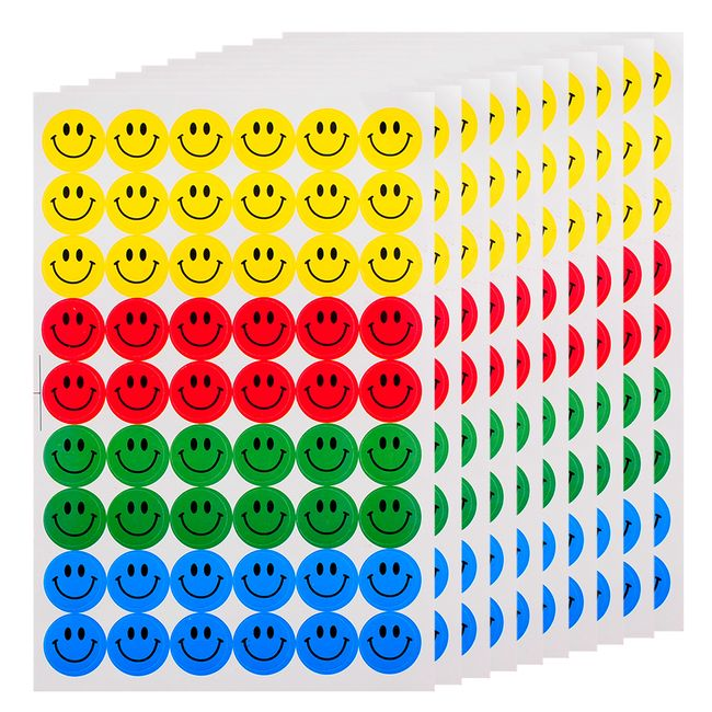 Nalepke v obliki smeška - 540 kosov 1