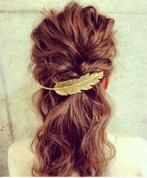 Spinka do włosów w kształcie piórka - 3 kolory