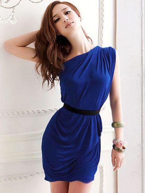 Sukienka damska Zanzea® na jedno ramię - oferujemy 2 kolory 1
