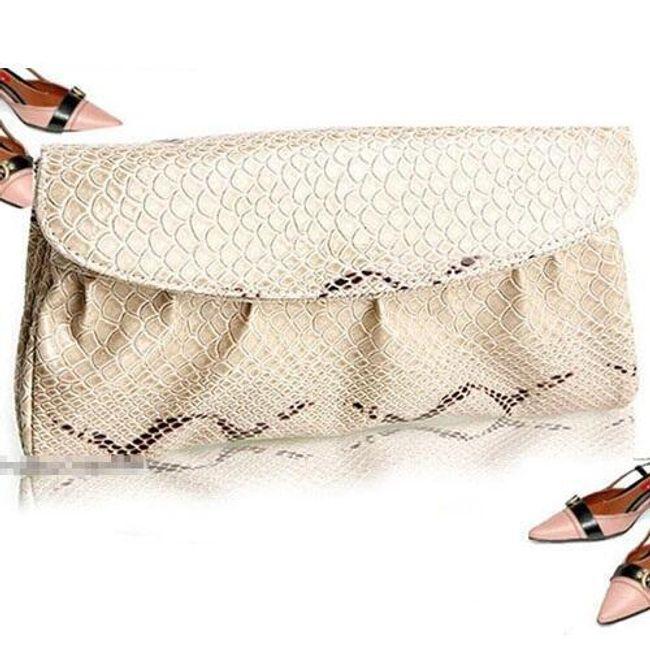 Dámská kabelka s potiskem hadí kůže - ve 4 barvách 1