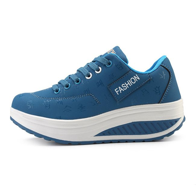 Dámské botasky na vyšší platformě - Modrá - 34 1