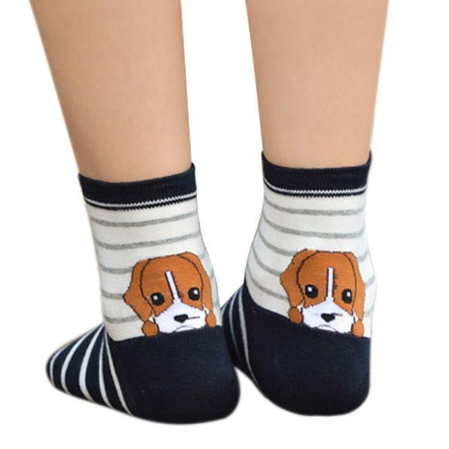 Dámské ponožky s roztomilým zvířecím motivem 1