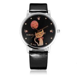 Дамски часовник с котка в циферблата