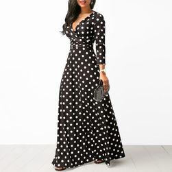 Ženska haljina sa dugačkim rukavima Alida