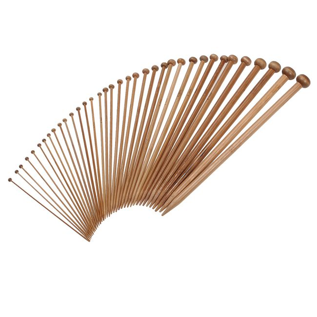 Комплект от 18 чифта бамбукови игли за плетене 1