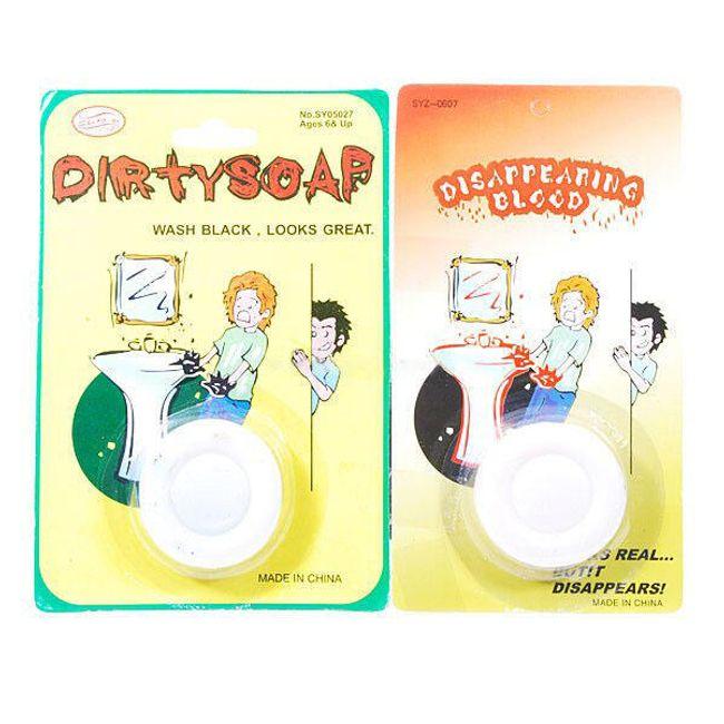 Žertovný předmět - špinící mýdlo, 2 ks 1