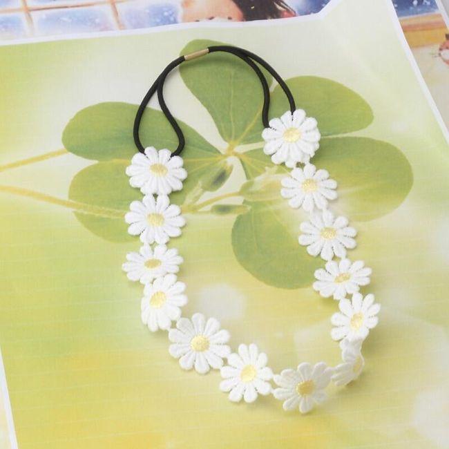 Traka za kosu sa cvetićem Lena 1