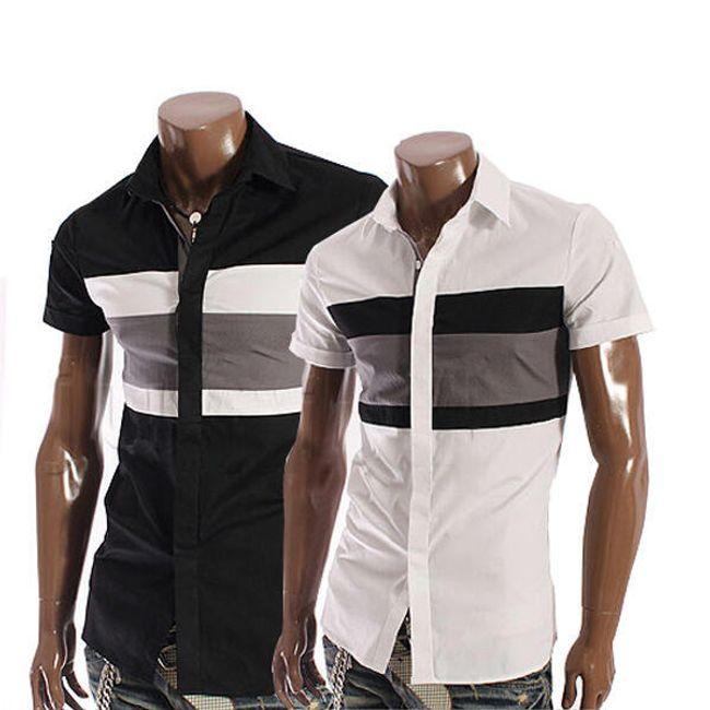 Pánská košile s krátkým rukávem - 2 barevná provedení 1