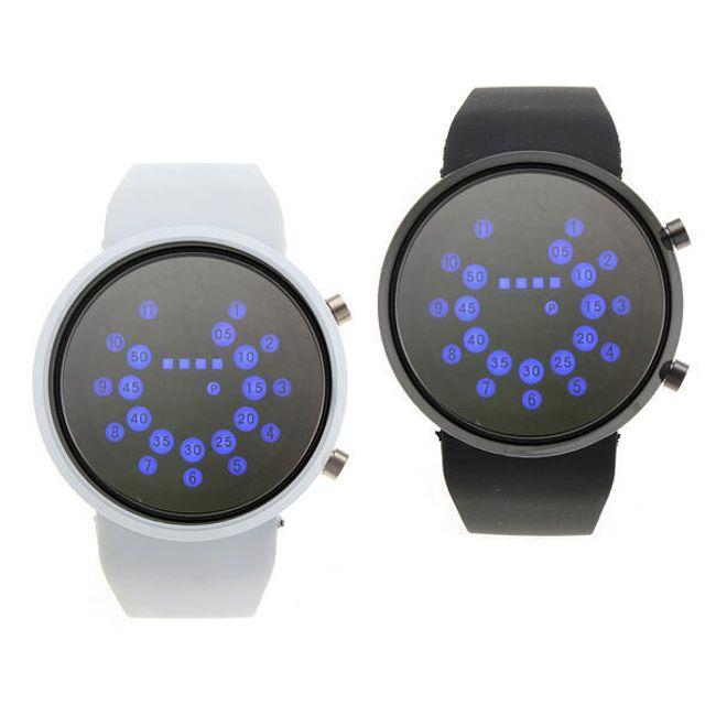 Moderní náramkové LED hodinky se zrcadlovým displejem, na výběr černé, bílé a šedivé 1