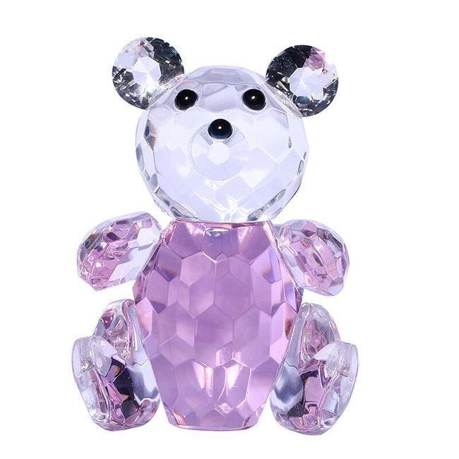 Medvídek - broušené křišťálové sklo 1