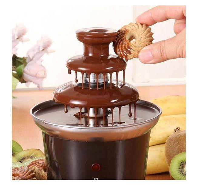 Čokoládová fontána na 400-600g čokolády - nerezová 1